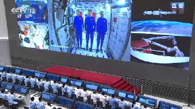 独家视频丨习近平与神舟十二号航天员通话