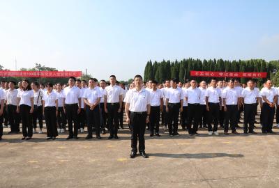 云梦县举行纪念建党百年新党员入党宣誓活动