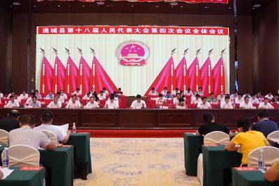 【聚焦两会】通城县十八届人大四次会议举行第二次全体会议