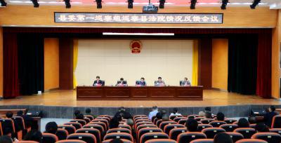 通城县委第一巡察组向县人民法院反馈巡察情况