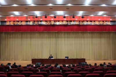 县委中心组深入学习党的十九届五中全会精神