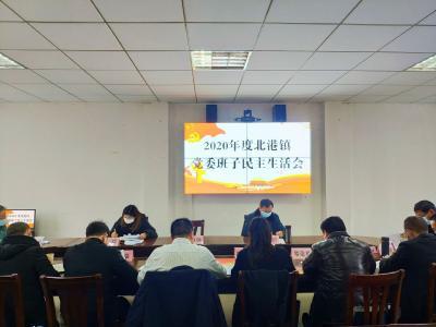 北港镇党委班子召开2020年度民主生活会