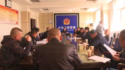 通城县市场监督管理局开展猪肉交易市场专项整治行动