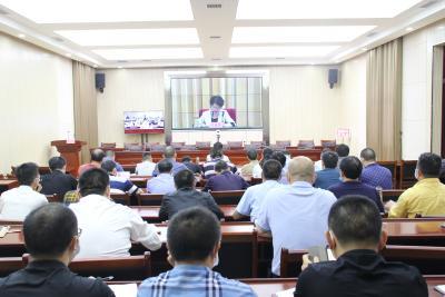 通城县收听收看湖北省学校传染病防控工作电视电话会