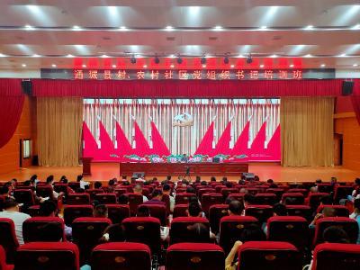 通城县村、农村社区党组织书记培训班开班