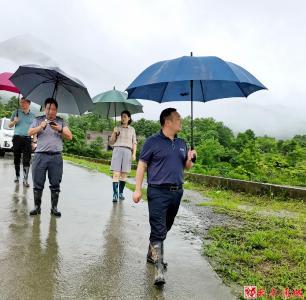 通城县领导到塘湖镇检查督办防汛工作
