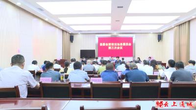 县委全面依法治县委员会第三次全体会议召开全力建设更高水平的法治通城