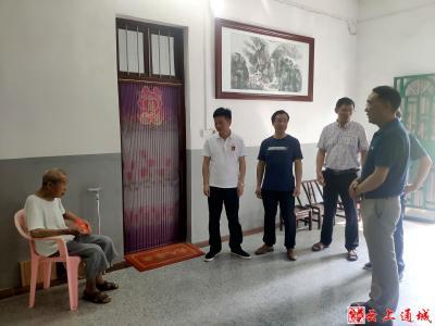 通城县领导到北港镇慰问退役军人