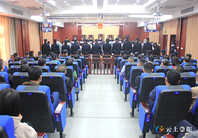 【扫黑除恶】金明胜等11人涉黑案在崇阳县法院 公开审理