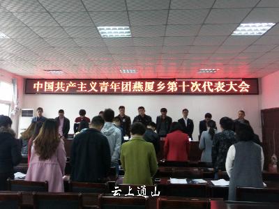 燕厦乡共青团第十次代表大会召开