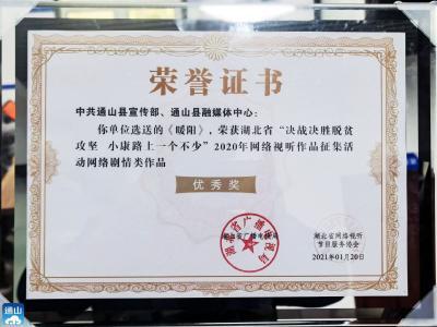 长江云——点赞!通山扶贫微电影《暖阳》在省里获奖了