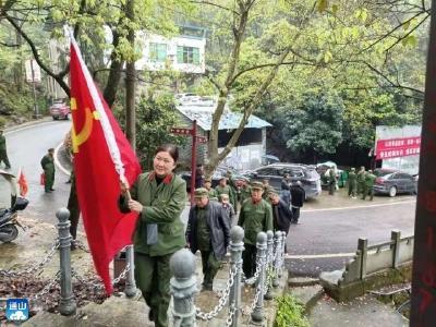 清明祭英烈 文明寄哀思  南林桥镇开展78届退役军人清明祭扫活动