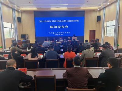 V视 | 通山:召开政法机关优化营商环境建设工作新闻发布会