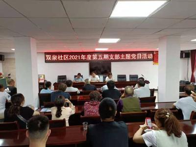 【党史学习教育】通羊镇双泉社区扎实开展第5期支部主题党日活动