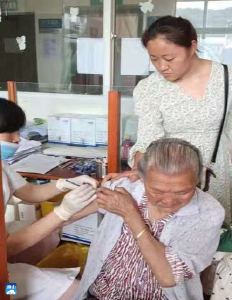 黄沙铺镇:耄耋老人支持助力疫苗接种工作