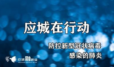 防控新型冠状病毒感染的肺炎,应城在行动!(一)
