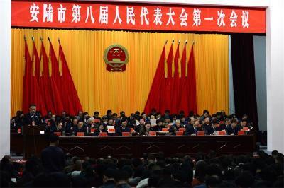 安陆市第八届人民代表大会第一次会议隆重召开