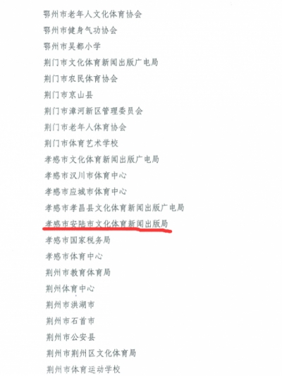 """市文体新局荣获""""2013-2016年度全国群众体育先进单位""""称号"""