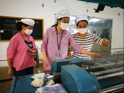 南城:安棉纺织公司操运会开赛啦!