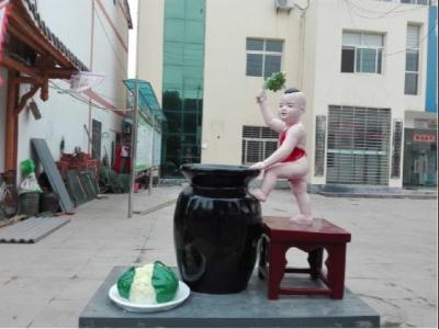 烟店镇特色雕塑亮街头