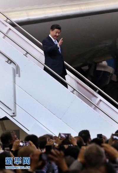 习近平结束出席APEC会议并对越南老挝访问后回到北京