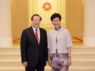 V视丨王晓东拜会香港特首林郑月娥 深化鄂港多领域合作 促进两地高质量发展