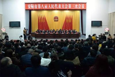 安陆市八届人大三次会议举行第三次全体代表大会