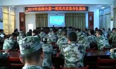 安陆市开展民兵应急分队集训活动