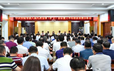 中共安陆市委八届九次全体(扩大)会议暨全市上半年经济形势分析会召开