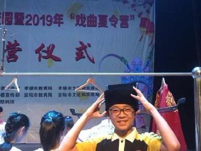 安陆市实验初级中学积极开展戏曲进校园活动