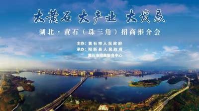 直播 | 湖北·黄石(珠三角)招商推荐会
