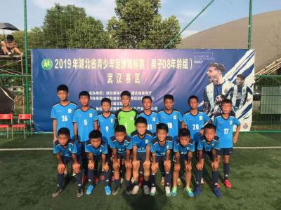 安陆少年足球队获得湖北第五