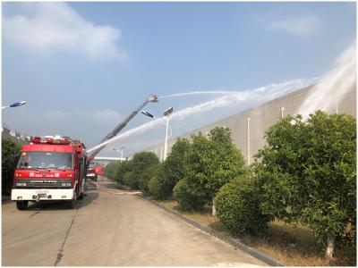 安陆市组织大跨度厂房火灾事故处置跨区域演练