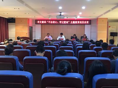 """安陆市文化和旅游局召开""""不忘初心、牢记使命""""    主题教育动员会议"""