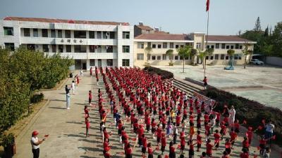 我为祖国妈妈送祝福 ——木梓中心小学举行国庆节庆祝活动