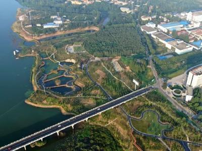 府河国家湿地公园一期建设完工