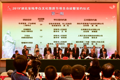安陆集中签约60个重大项目,总投资155.8亿元
