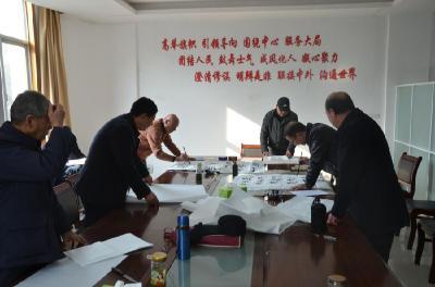 安陆市老年书法家协会送书法进机关