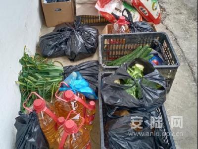 安陆市接官乡:物资配送到位,群众宅家防护