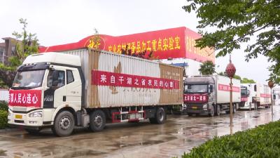 """安陆市120万元鲜蛋皮蛋搭载""""爱心专车""""驰援北京"""