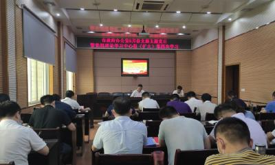 胡明刚参加支部主题党日活动给市政府机关全体党员讲专题党课