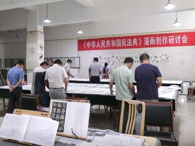 安陆市举办《中华人民共和国民法典》漫画创作研讨会