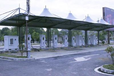 赤壁古战场有了新能源汽车充电站