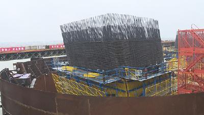 赤壁长江公路大桥进展顺利 主线及交叉工程基础已完工