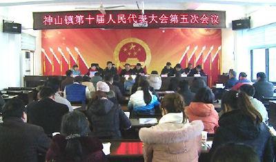 神山镇第十届人民代表大会第五次会议召开