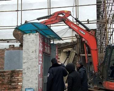 赤壁|违法建筑被强制拆除 面积200余平方米
