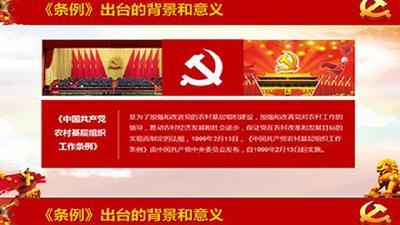 新时代党的农村基层组织工作的基本遵循