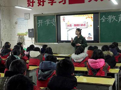 赤壁:开学第一课 消防安全记心间