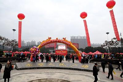 """盛文军指导2019年""""春风行动""""大型招聘会"""
