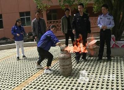消防演练 警钟长鸣 蒲纺工业园区开展消防演练